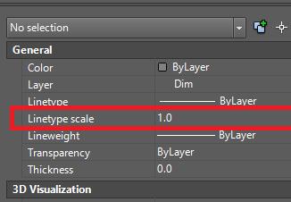 Chỉnh nét đứt trong cad và biến hiển thị Line Type Scale