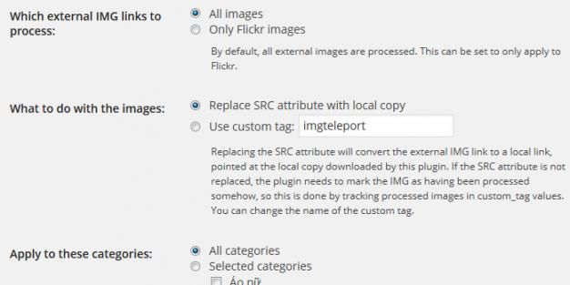Plugin WordPress tự động lấy ảnh về host với Image Teleporter