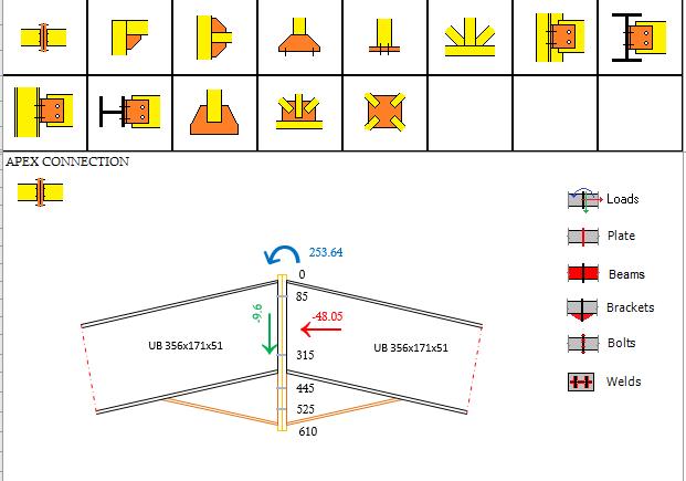 Bảng tính mối nối thép - steel connection