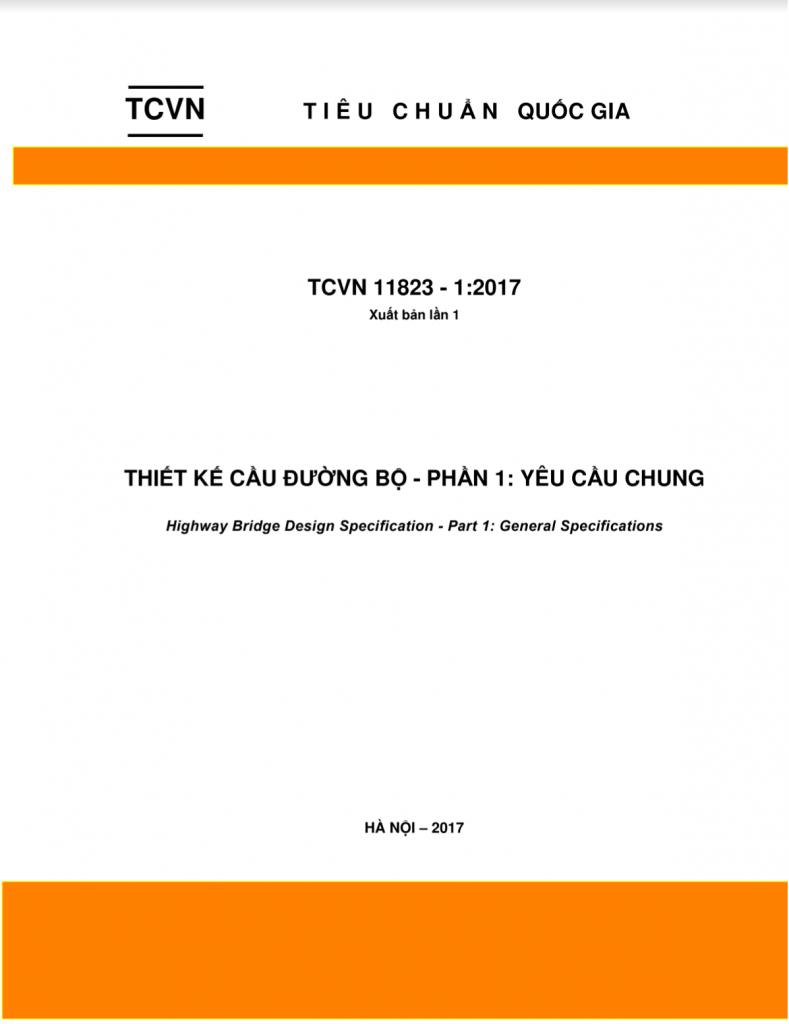 Đánh giá tiêu chuẩn thiết kế cầu mới TCVN11823-2017