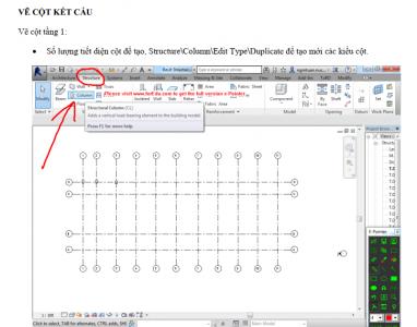 Tài liệu hướng dẫn thực hành Revit structure