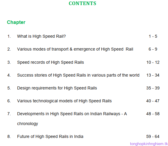 Ebooks tổng hợp thiết kế đường sắt tốc độ cao
