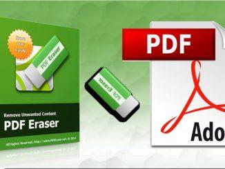 Phần mềm xóa nội dung trên file PDF - PDF eraser full