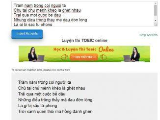 Công cụ tự thêm dấu tiếng Việt