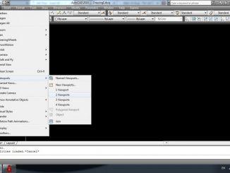 Lisp chia đôi màn hình AutoCad