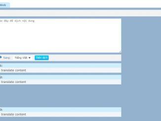 Dịch thuật trực tuyến trên nền tảng web