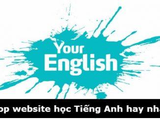 Những trang web hỗ trợ học tiếng Anh tốt nhất