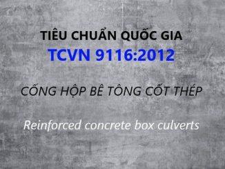 Tiêu chuẩn quốc gia TCVN 9116:2012 về Cống hộp bê tông cốt thép