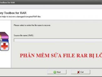 Phần mềm phục hồi file rar bị lỗi Recovery Toolbox for RAR