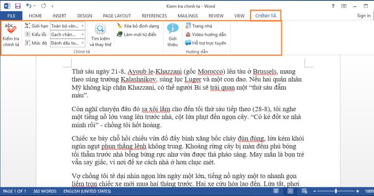 Phần mềm kiểm tra lỗi chính tả tiếng Việt Tummo Spell
