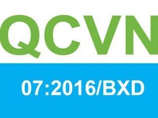 QCVN 07-4:2016/BXD Quy chuẩn Kỹ thuật Quốc gia về Các công trình hạ tầng kỹ thuật - Công trình giao thông