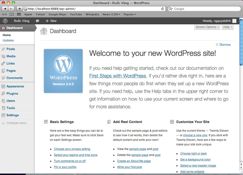 Hướng dẫn cài đặt wordpress trên NAS (phần 2)