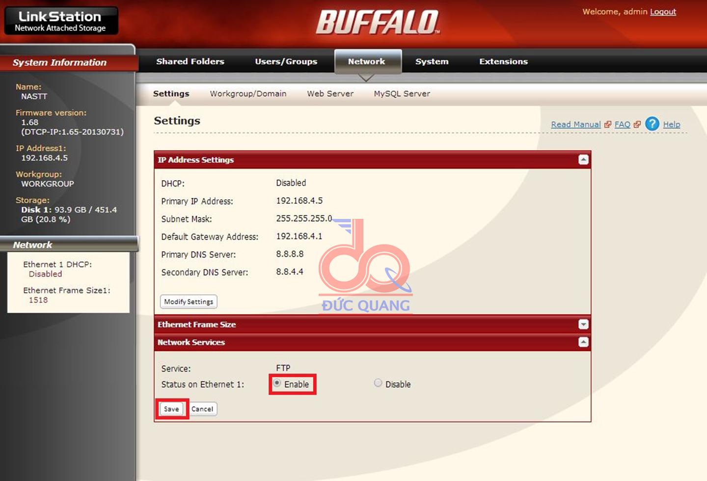 Hướng dẫn truy cập ổ cứng NAS buffalo từ xa qua internet
