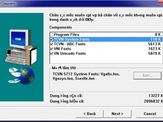 Hướng dẫn cách cài đặt hiển thị theo font TCVN trong window