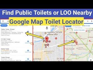 Sử dụng google maps để tìm nhà vệ sinh công cộng