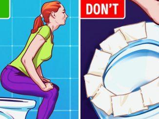 Không nên dùng giấy vệ sinh lót bàn ngồi khi sử dụng toilet công cộng