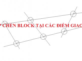 Lisp chèn block tại các điểm giao