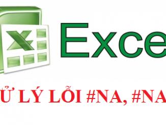 Cách xử lý khi gặp lỗi #N/A hoặc #NAME trong excel