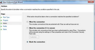 Hướng dẫn cách chặn kết nối internet của một phần mềm