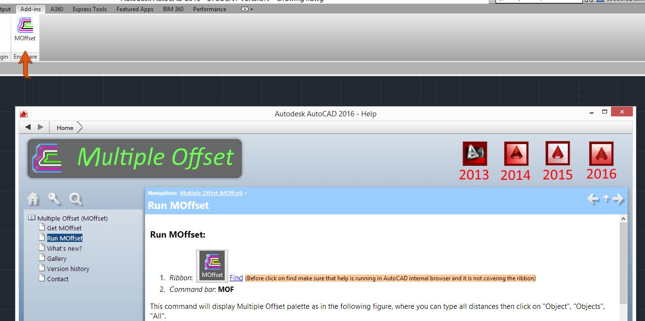 Lisp offset đồng thời nhiều đối tượng cùng lúc