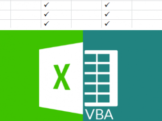 VBA excel tạo check mark