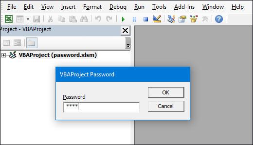 Cách phá mật khẩu VBA trong Excel