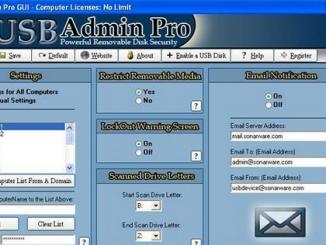USB Admin Pro- ngăn chặn sao chép dữ liệu trái phép