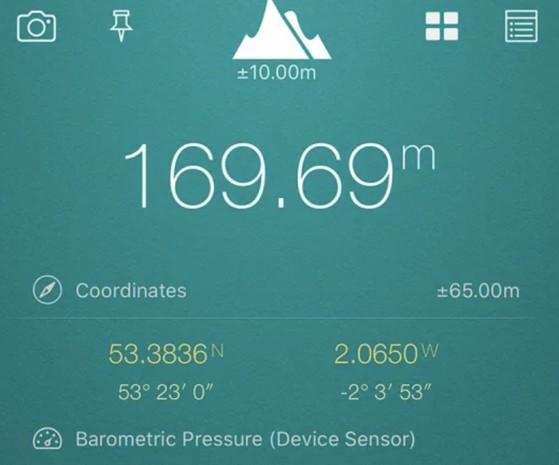 Dùng điện thoại để đo khoảng cách, tốc độ, độ cao