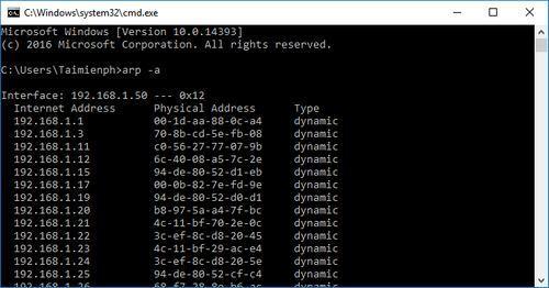 Cách kiểm tra IP của các máy tính khác trong mạng Lan