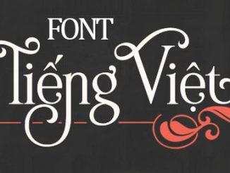 Bộ font tiếng Việt đầy đủ cho window