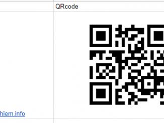 Cách tự tạo QRcode bằng google sheet