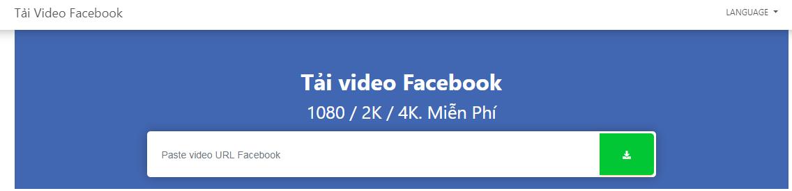 Công cụ tải video từ facebook về máy tính, điện thoại