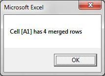Code VBA đếm số lượng dòng bị merge trong excel