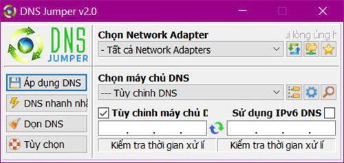 Phần mềm DNS jumper- đổi DNS nhanh nhất cho kết nối mạng
