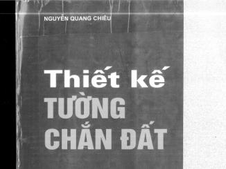 Book- Thiết kế tường chắn đất của Nguyễn Quang Chiêu